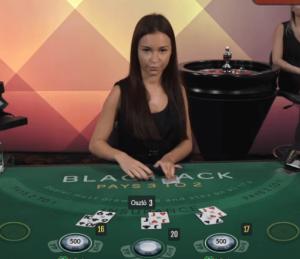 Élő blackjack játék