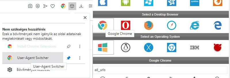 opera user agent swither